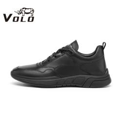 VOLO犀牛 2020秋季新款真皮运动鞋百搭系带休闲鞋潮流低帮板鞋男287205101D