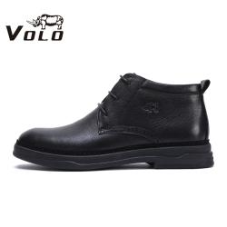 VOLO犀牛男鞋冬季 保暖马丁靴 简约潮靴英伦风工装鞋韩版潮流皮靴28697551MZ