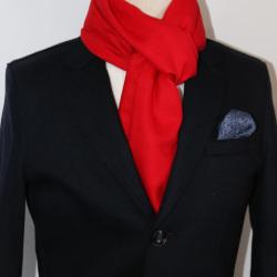 AujacSon奧杰遜 2020秋冬季新款保暖百搭加厚圍巾滌粘拉毛純色圍巾宴會休閑圍巾