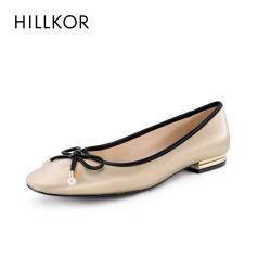 2020秋季新款浅口平底皮鞋 时尚女蝴蝶结舒适粗跟低跟休闲单鞋女HK541