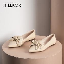 2020秋季新款漆皮仙女风尖头平底鞋百搭时尚浅口低跟单鞋女上班鞋