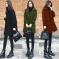 2020反季秋冬新款韩版宽松显瘦黑色呢子大衣中长款羊毛呢外套女潮 500