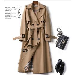 赫本风风衣女中长款小个子秋冬季高端大气质垂感韩版宽松休闲外套 988