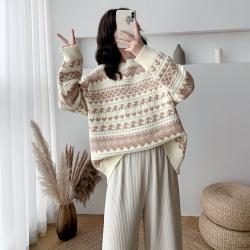 蜜朵2020新款秋季毛衣女宽松外穿套头百搭针织衫上衣B1696