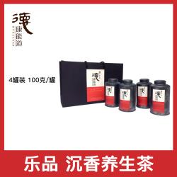 茶款 沉香白木香叶茶养生茶 京东快递 乐品 饮品 4罐装 100克/罐