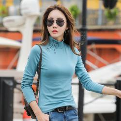 6927#清仓款印花人物有薄有加绒两选 打底衫女士T恤长袖上衣