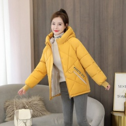 棉服女2020冬季新款韩版宽松加厚短款学生撞色羽绒棉袄 6630