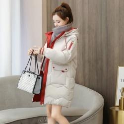 2020年新款女韩版宽松中长款棉袄 6651