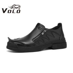 VOLO犀牛男鞋 2020秋冬新款 低帮系带休闲百搭个性潮流休闲皮鞋155205421A