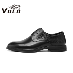VOLO犀牛男鞋2020秋季新款真皮增高德比正装皮鞋婚鞋通勤休闲皮鞋134205461D