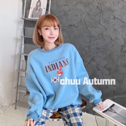 淘京213#市场图现货 2020冬装韩版新款宽松卡通圆领加绒卫衣女