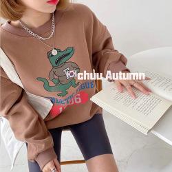 淘京209#市场图现货 2020冬装韩版新款宽松小鳄鱼圆领加绒卫衣女