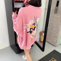 淘京210#市场图现货 2020冬装韩版新款宽松卡通圆领加绒卫衣女