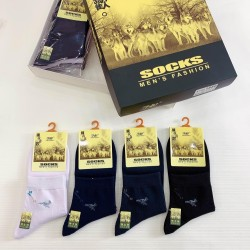 刁狼系列男袜 12双盒装男士短袜船袜长袜精梳棉秋冬舒适透气保暖