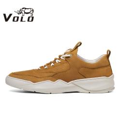 VOLO犀牛男鞋2020夏季新款鞋男时尚潮流百搭真皮运动休闲老爹潮鞋118203001D
