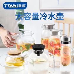 TQVAI华派 耐热玻璃冷水壶套装凉白开水茶壶水杯大容量果汁扎壶家用水壶