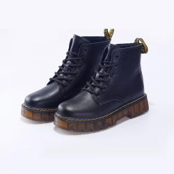 瑟莉亚 2020新款马丁靴女英伦风网红百搭黑色内增高小短靴潮ins6005