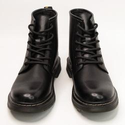 瑟莉亚 马丁靴男高帮英伦风韩版工装靴百搭潮鞋男靴AM690-2黑色男款马丁靴(M001)