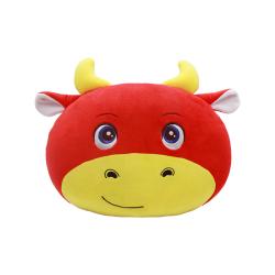 牛年扁圆形抱枕