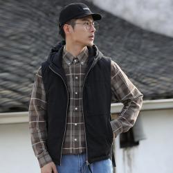 艾咕 2020秋冬季新款潮流时尚气质男士休闲棉马甲 2005