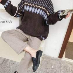 韩国818 韩国东大门通勤时尚2020秋冬舒适保暖印花毛衣 MW046(1)