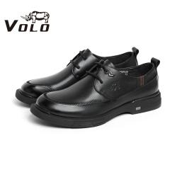 VOLO犀牛男鞋2020秋冬新款百搭休闲皮鞋系带商务休闲鞋车缝线皮鞋 286205741D
