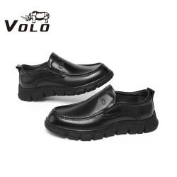 VOLO犀牛男鞋 2020冬季新款厚底耐磨休闲皮鞋商务休闲鞋按磨鞋138207041D