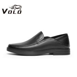 VOLO犀牛男鞋2021春新牛皮商务休闲皮鞋软底套脚一脚蹬皮鞋爸爸鞋311207071D