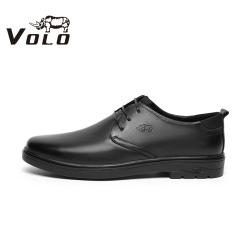 VOLO犀牛2020冬季新款系带商务正装皮鞋男婚鞋休闲鞋真皮头层牛皮311207051D