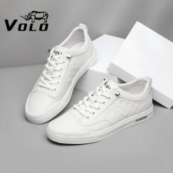 VOLO犀牛男土休闲鞋2021夏季透气薄款西装白色板鞋男in舒适小白鞋117210041D
