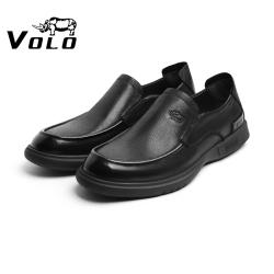 VOLO犀牛男士夏天夏季薄款休闲皮鞋男真皮年轻款一脚蹬软皮软底286213281D