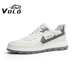 VOLO/犀牛皮鞋休闲男鞋小白鞋新款韩版头层牛皮男士系带百搭日常 309215151D
