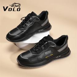 VOLO/犀牛皮鞋2021年秋季新款头层牛皮鞋休闲运动鞋跑鞋流行男鞋286215601D