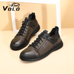 VOLO/犀牛运动皮鞋男鞋真皮透气板鞋男士头层牛皮休闲运动鞋跑鞋 505215031D