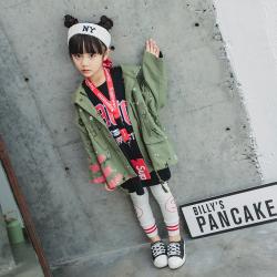 一件代发2018女童儿童打底裤外裤修身春款韩版童装裤子中小童潮