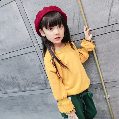一件代发女童卫衣春秋儿童女款长袖2018新款韩版小孩上衣百搭春款