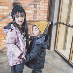 TBEQ01505 A799淡雅泼墨棉衣一件代发童装女童外套2018新款韩版中大童春款儿童春装短款上衣女