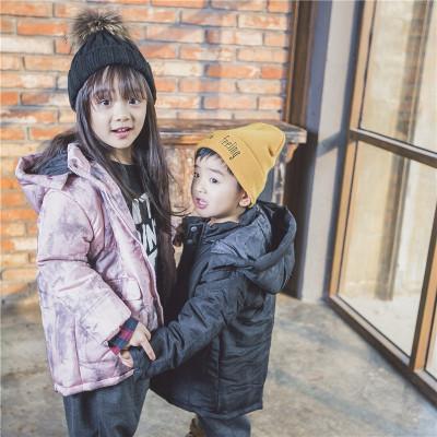 TBEQ01505 A799淡雅泼墨棉衣一件代发童装女童外套2018新款韩版中大童春款儿童春装短款...
