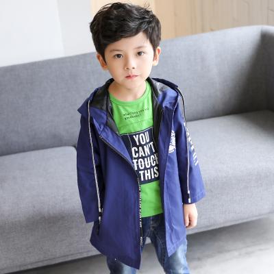 OYXXCAXL811 CW320五角星化纤风衣一件代发春款男童外套中长款15小学生大童10男孩12岁...
