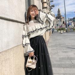 1102#实拍2018秋冬毛衣女针织衫上衣韩版网红同款抖音小姐姐毛衣