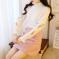 7104半高领刺绣花朵针织套装裙秋冬新款甜美钉珠短裙学生两件套女