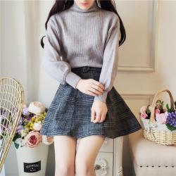2275#秋冬装女2018新款冬甜美时尚小个子初秋套装裙毛衣短裙两件