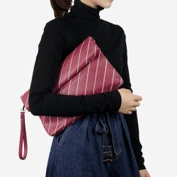 桐乐儿 手拿包晚宴包斜纹折叠手包2018单肩斜挎包 ES8059