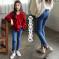 2019春季新款中大儿童女童修身牛仔裤ins时髦个性九分裤铅笔全棉裤子