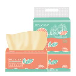 【觅俏】原生竹浆本色抽纸面巾纸巾3包*400张/包