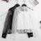 实拍 2019夏季新款时尚宽松上衣女+小背心两件套上衣网纱蕾丝