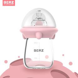 英国BERZ防胀气宽口径婴儿奶瓶硼硅酸玻璃奶瓶婴儿用品新生儿奶瓶