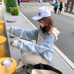 6923#网红同款加绒娃娃卫衣女韩版学生宽松ulzzang连帽一件代发