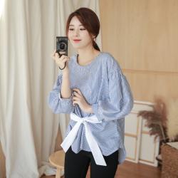 1726#2019春新款一件代发韩版女装宽松甜美风娃娃衫女士衬衫上衣