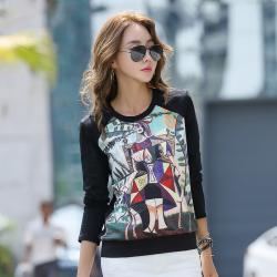 8992#圆领卫衣女士上衣长袖欧美休闲时尚一件代发女装亚马逊爆款